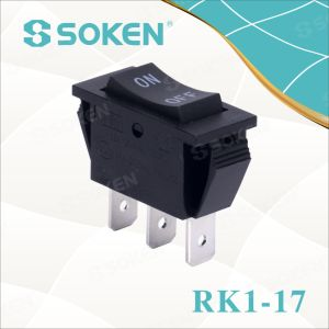 Soken Rk1-17 1X3 on off on 3pins Rocker Switch pictures & photos