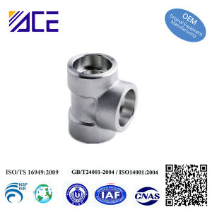 Custom Made Stainless Steel Aluminum Tee Pipe Fittings pictures & photos