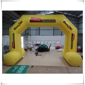 Good Shape Inflatable Arch Door Pasted with Customized Logo pictures & photos