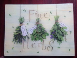 4-6mm Tempered Glass Chopping Board/Cutting Board/Vegetable Plates/Flutto (JINBO) pictures & photos