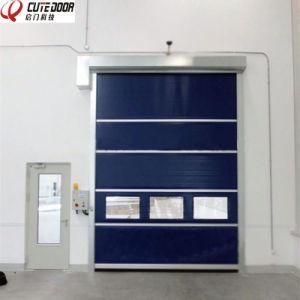 Transparent Food Factory PVC Fabric High Speed Garage Door pictures & photos