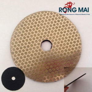 Diamond Round Disc for Stone/Glass with Back Hook & Loop