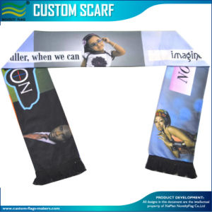 Customsports Fans Printing Silk Satin Scarf (T-NF19F10004) pictures & photos