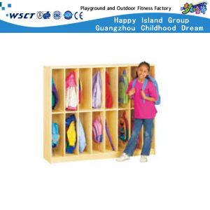 School Bag Ark Preschool Wooden Kids Schoolbag Cabinet (HC-3011) pictures & photos