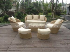 Mtc-280 PE Rattan & Aluminum Furniture, Outdoor Rattan Sofa pictures & photos