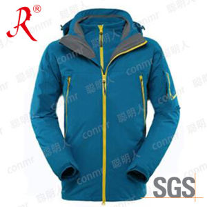 Waterproof Winter Ski Jacket with Hood (QF-6139) pictures & photos