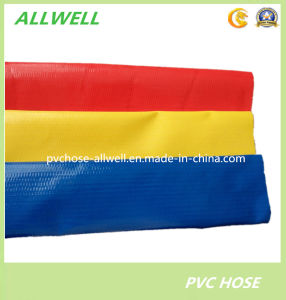 Plastic PVC Flexible Water Irrigation Agricultural Discharge Pipe Layflat Hose pictures & photos