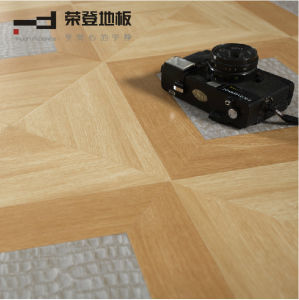 Middle Embossment Parquet Home Decoration V Buckle Laminated Flooring pictures & photos