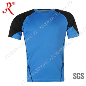 Men′ S Athletic Compression Fitness T Shirt (QF-S1026) pictures & photos