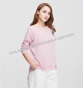 Fashion Women′s Boat Neck Leisure Sweater Colorful Knitwear