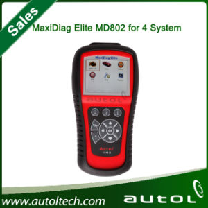 Autel Maxidiag Elite MD802 4 System with Datastream Model Engine, Transmission, ABS and Airbag Code Scanner pictures & photos