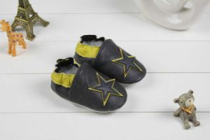 Baby Cow Leather Shoes Soft Sole Prehobbler Shoes (SWBBS2)