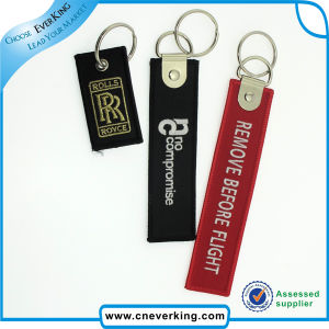 Polyester Embroidery Short Lanyard Embroidery Keychain pictures & photos