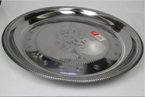 Stainless Steel Flower Round Tray Thai Plate (CF-0100) pictures & photos