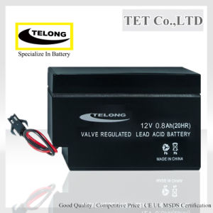 Rechargeable Battery-12V 0.8ah-Sealed Lead Acid Battery pictures & photos