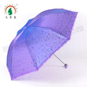Heat Print Mini Pocket Folding Umbrella for Girl