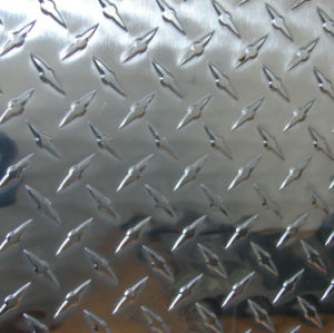 Aluminum Checkered Plates with Grain Pattern pictures & photos