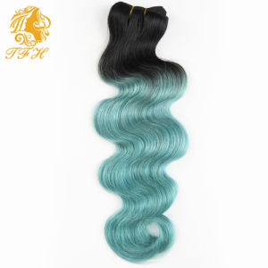 New Omber Brazilian Virgin Human Hair Weave Body Wave 1b /Blue Ombre Human Hair Extensions Two Tone Hair pictures & photos