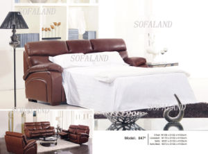Modern Leather Foldable Sofa Bed 847# pictures & photos