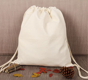Top Quality Natural Cotton Drawstring Gift Bag pictures & photos