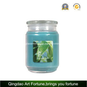 Scented Glass Jar Candle with Flat Glass Lid Manufacturer pictures & photos