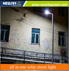 8W Integrated LED Solar Street Sensor Light with Remote Control for Garden pictures & photos