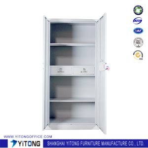 Yitong 2-Door 2-Drawer Password Ark Metal Storage Cabinet / Office Use Steel Locker pictures & photos