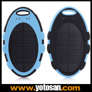 5000mAh Travel Emergency Smartphone Solar Charger Waterproof pictures & photos