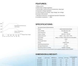 Cr-250va/350va/500va/600va Relay USA Socket Automatic Voltage Regulator/Stabilizer pictures & photos