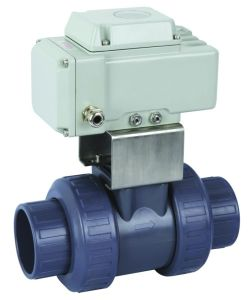 Plastic Electric Ball Valve (Q61F-6S) pictures & photos