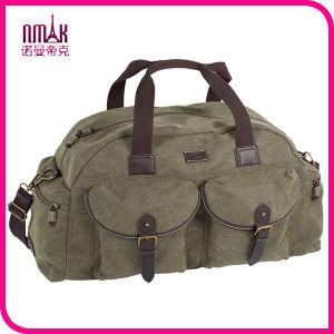 Retro Canvas Leather Duffel Bag Designer Gym Shoulder Camel Travel Bags for Men pictures & photos