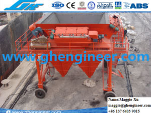 Slag Clinker Coal Wheat De-Dusting Rubber Tire Mobile Hopper pictures & photos