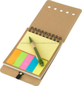 Wire Bound Notebook with Sticky Notes pictures & photos