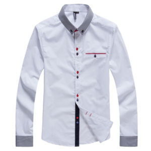 100%Cotton Men′s Shirt Fomal Shirt, Long Sleeve Shirt