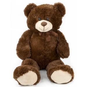 Super Soft and Stuffed Dark Brown Plush Teddy Bear pictures & photos