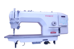 Computer Lockstitch Sewing Machine with Auto-Trimmer and Auto-Lifter