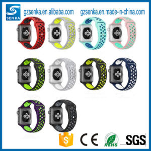 Sport Luminous Silicone Womens Watches Strap for Apple Watch Band pictures & photos