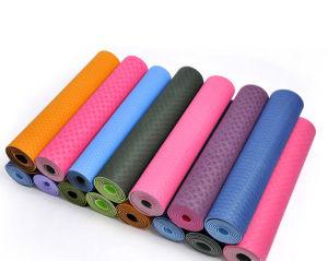 China Custom Silk Screen Printing Big Yoga Mat Material