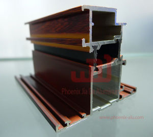 Aluminum Wooden Transfer Extrusion Profile/ Aluminum Heat Insulation Profile