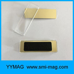Plastic Plating Name Tag/Badge with Magnet Back Supply Cheap Price pictures & photos