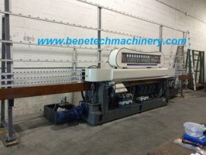 Glass Straight Line Edging Machine with PLC 9 Spindles pictures & photos