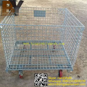 Foldable Stackable Wire Mesh Container pictures & photos