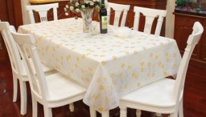 PEVA/PVC Waterproof Table Cover pictures & photos