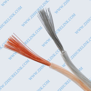 Red and Black Color Flexible Transparent Speaker Cable pictures & photos