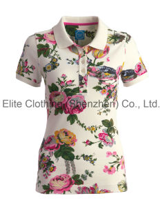 Quick Dry Sublimated Lady Polo Shirt (ELTWPJ-260) pictures & photos