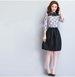 2016 Latest Fashion Short Women Mini Plain Custom Skirts pictures & photos