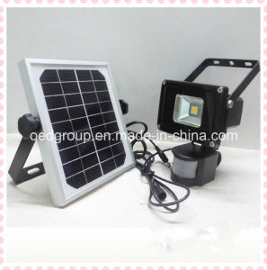 10W Solar Power LED Flood Light with Human Body Induction pictures & photos