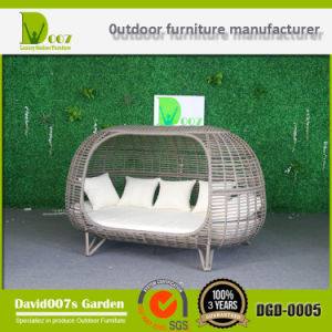 PE Rattan Outdoor Patio Furniture Double-Bed Wicker Sunbed Daybed Hotel Project pictures & photos