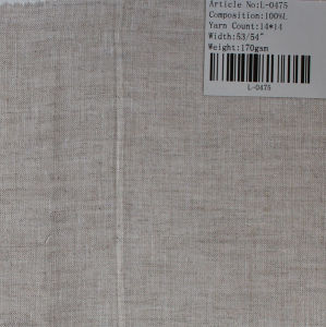 The Pure Linen Fabric L-0475 pictures & photos