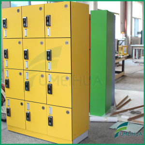 Good Quality Yellow 2 Column 4 Door Gym Locker with ID Card Digital Lock pictures & photos